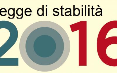 Informazioni sulla legge di stabilità 2016